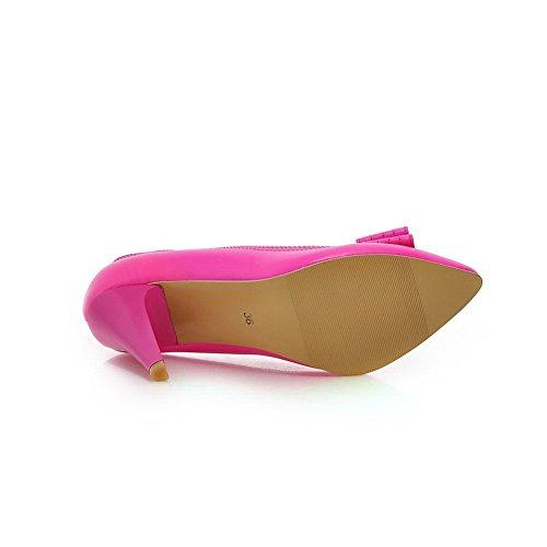 BalaMasa-Slip-On, motivo: gattino, con tacco Kitten Heels materiale morbido pompe-Shoes RoseRed