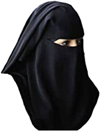 Burqa Hood Burqua Fancy Dress Traditional Sharia burka Head-Wear Hijab[Apple Green]