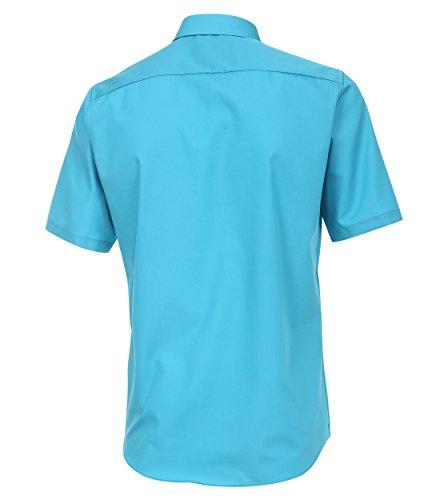 Casamoda - Modern Fit - Bügelfreies Herren kurzarm Hemd in verschiedene Farben (008570) Türkis (159)