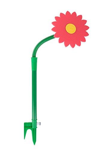 1a-Handelsagentur Wassersprenger \'Tanzende Blume\' Sprinkler Regner Garten Bewässern Kinder Spaß, Farbe:rot