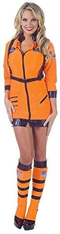 Halloween Kost¨¹m Party Kleidung Festival Fasching Karneval Cosplay Sexy Damen Retro Mode Fun Kost¨¹m Wild Astronaut Minikleid (Minikleid+Gamaschen) - Orange Gr??e S: (Astronaut Kleidung)