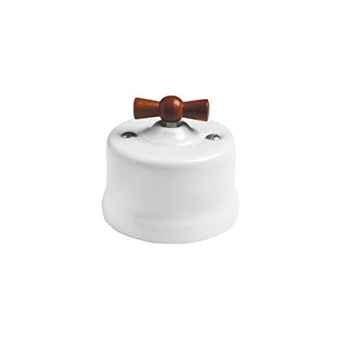 Interruptor unipolar con lazo de madera GARBY 67302