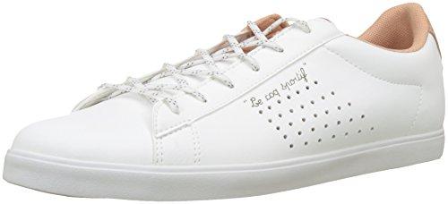 LE COQ SPORTIF Agate Sport, Zapatillas para Mujer, Beige (Optical White/Dusty Coral Blanc), 38 EU