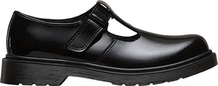 Dr Martens Goldie Youth Black Patent School Shoes Black