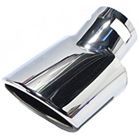 bestown cromado de alta calidad 304tubos de acero inoxidable silenciador de escape ajuste para Toyota EZ Corolla Lexus CT200Focus 2012Chevrolet Epica Aveo Hatchback