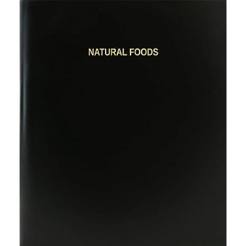 Natural BookFactory alimentos cuaderno/Cuaderno Diario página / - 120, 21,59 cm x 27,94 cm, negro tapa dura (XLog - 120-7cs-a-l - negro (libro de los alimentos naturales))
