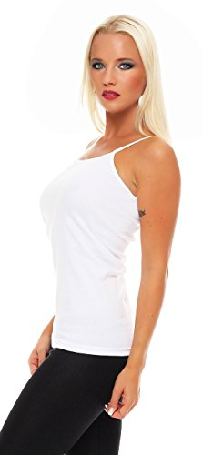 (2er Pack) Damen Hemd (Unterhemd / Träger Top) Nr. 429 ( Weiß / 56/58 (XXXL) ) - 2