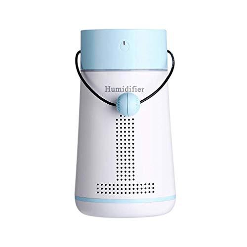 Lovevv11 Luftbefeuchter LED Bunte Nachtlicht Luftreiniger mit Spiegel Fan Message Board USB-Ladegerät für Home Autos Baby Schlafzimmer Schlafzimmer Büro, gelb,Blue