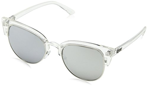 Quay Eyewear Unisex Sonnenbrille AVALON, Gr. One size, Weiß (CLR/SLV MIRR)