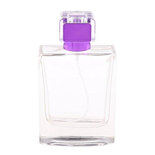 SODIAL 100 ml Perfume Vacio pulverizador rectangulo Atomizer viaje regalo purpura, un tamano (precio: 6,54€)