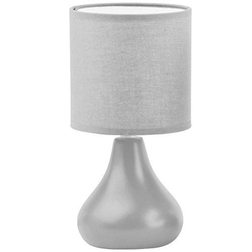 Promobo - Lampe Design Goutte Pied Abat Jour Coloris Gris