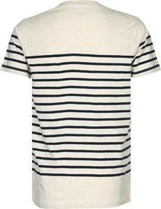 Wemoto Herren T-Shirt BLAKE STRIPE - Sand Melange Navyblu Sand Melange Navyblu