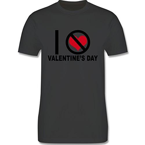 Valentinstag - Anti-Valentinstag I hate Valentine's Day - Herren Premium T-Shirt Dunkelgrau