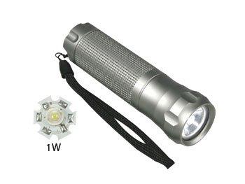 TORCIA CON LED DI POTENZA DA 1W -Torcia in alluminio con LED Luxeon da 1 Watt