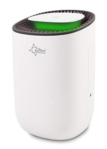 SUNTEC Mini-Luftentfeuchter DrySlim 300 point [Für Räume bis 30 m³ (~12,5 m²), umweltfreundlich gegen Kondenswasser- und Schimmelbildung, LED-Beleuchtung, max. 300 ml/Tag Entfeuchtung, max. 23 W]
