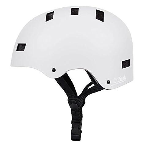 Critical Cycles 2449 Klassischer CM1 Helm mit 8Belüftungsöffnungen, Pendlerrad/Skate/mehrere Sportarten - Matt Weiß, S/51 - 55 cm