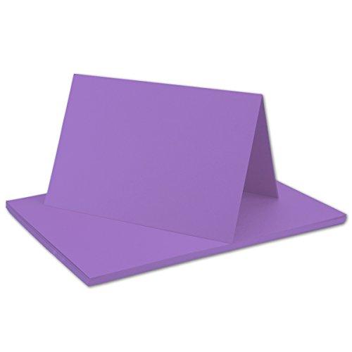 25 Faltkarten B6 - Violett - Premium QUALITÄT - 11,5 x 17 cm - sehr formstabil - für Drucker geeignet! - Qualitätsmarke: NEUSER FarbenFroh!!