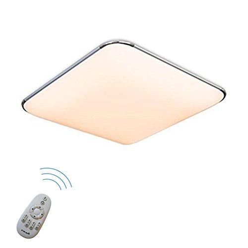 SAILUN 36W Dimmbar Ultraslim LED Deckenleuchte Modern Deckenlampe Flur Wohnzimmer Lampe Schlafzimmer Küche Energie Sparen Licht Wandleuchte Farbe Silber