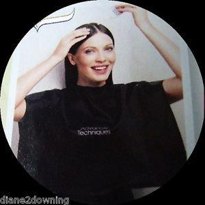 Schulter-Schutz Cape für Haare färben, Schneiden, Waschen, Styling schwarz Avon -