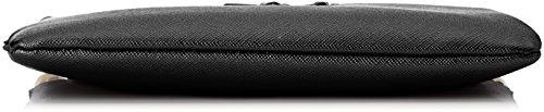Trussardi Jeans Damen 75b00012-1y090125 Clutch, 20x17x3 cm Schwarz (Nero)