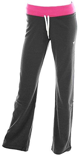 Leopard Damen Sportswear Hose Jogginghose Sweathose Sporthose M Dunkelgrau -Vicky- (Leopard Bein)