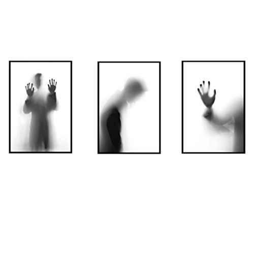 Aufkleber Wandkunst ,Jaminy Blaue Fische Der Modernen Karikatur / Karikatur-Horror-Schatten / Karikatur-Blumen / Karikatur-Turm-Feder / Karikatur-Kaktus / Dekoration (57 x 39cm) (F005) Baum-entfernbare Wand-kunst