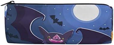 Bonipe Happy Halloween citrouille Bat Lune Trousse Pochette Sac d'école papeterie Pen Box Zipper Cosmétique Sac de maquillage | Matériaux De Haute Qualité