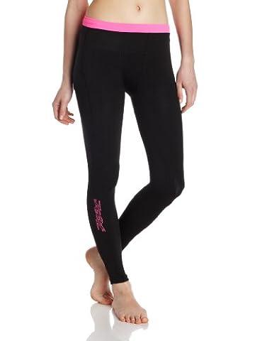 Zoot Sports Women's Ultra 2.0 CRX Tights, Black/Pink Glow, 1 Tall