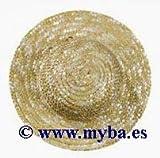 Rayher 8812231 Strohhüte, natur, Innen ø 6,5 cm, Außen ø 11,5 cm