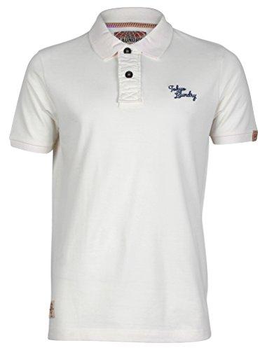 Tokyo Laundry Herren Ezequiel Kurzarm Poloshirt Größe S- XL Elfenbein