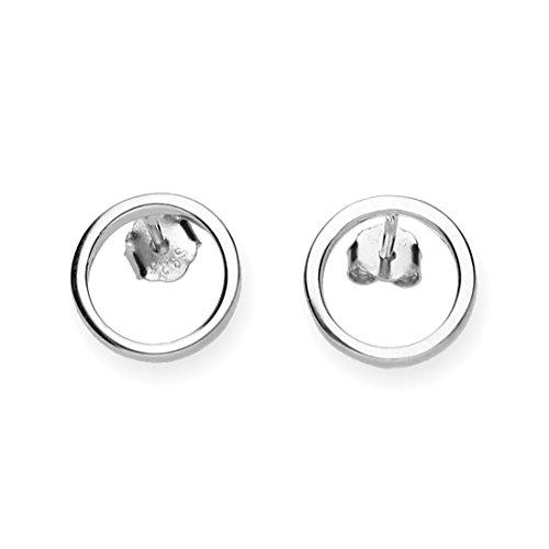 URBANHELDEN - Ohrringe Kreis Filigran - 1 Paar 925 Sterlingsilber Ohrstecker Damen Silberschmuck Ohr-Schmuck Studs - Silber
