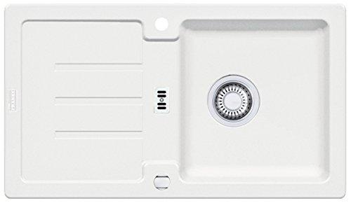 Preisvergleich Produktbild Franke Strata STG 614-78 Glacier Granit Weiß Spülbecken Küchenspüle Auflagespüle