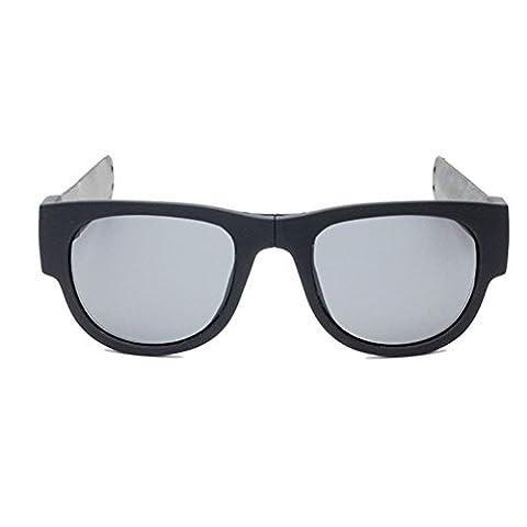 Xiahbong Faltbare Radfahren Goggles Sonnenbrillen Eyewear Draussen Sport Brillen (Schwarz)