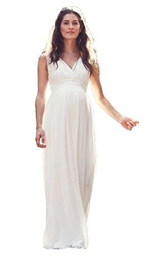 bellybutton Hochzeitskleid Dilara Damen Umstandsmode Kleid Dress Umstandsbrautkleid 11805 (34, Creme...