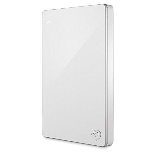 Seagate Backup Plus Slim Portable, Externe Festplatte, Tragbar, 6,35 cm (2,5 Zoll), USB 3.0, HDD für PC & Mac & PS4, recertified, Kapazität:1.000GB (1TB), Farbe:Weiß (Portable Usb-laufwerk Plus)
