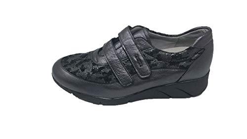 Zapato/Mujer/Drucker/Ancho Especial/Apto Plantillas/Cierre fácil/: Piel/Plataforma 3cm/Suela Caucho/Talla 37