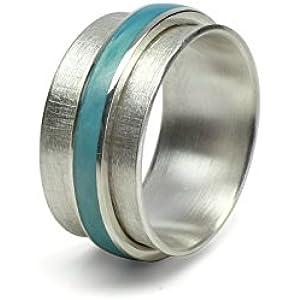 Drehring Ozean 925 Silber, 11mm