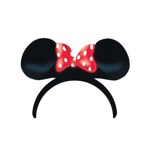 -Maus-Ohren und Schleife, rot (Minnie Maus Party-ohren)