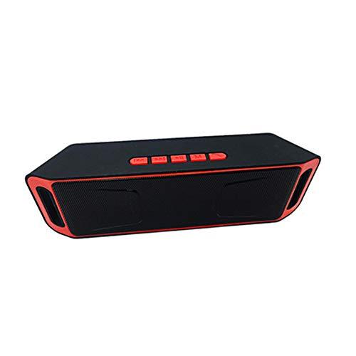 Xiton Wireless Bluetooth Lautsprecher im Freien tragbaren Stereo-Lautsprechern mit High-Definition Audio und verbessertem Bass, in Dual-Laufwerk Lautsprechern eingebaut - rot