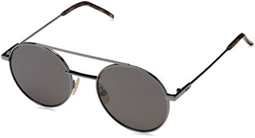 Fendi ff 0221/s m9 kj1, occhiali da sole uomo, grigio (dk ruthenium/grey pz), 52