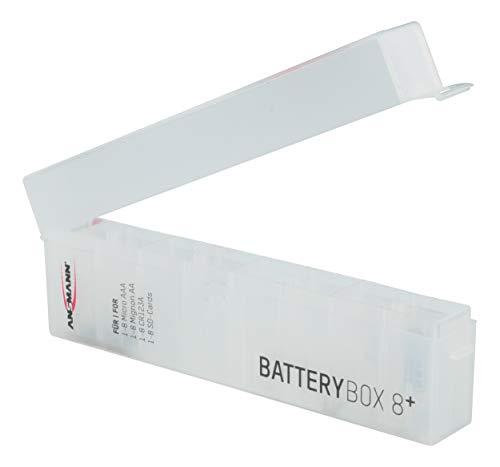 ANSMANN Batteriebox für AAA Micro, AA Mignon Akkus & Batterien, Spezialbatterien & Speicherkarten - Praktische Akkubox zum Schutz & Transport für 8 Accus - Batterie Box & Akku Box zur Aufbewahrung