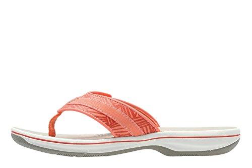 Clarks Brinkley Quade, Sandales Bout Ouvert Femme Orange & Red