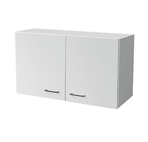 Flex-Well Küchen-Hängeschrank LUCCA   Oberschrank vielseitig einsetzbar   2-türig   Breite 100 cm   Weiß