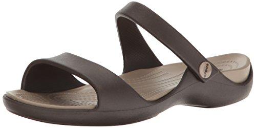 Crocs Cleo V Sandal Women, Damen Sandalen, Braun (Espresso/Mushroom), 37-38 EU