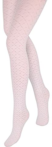 Merry Style Filles Collants MS 744 (Blanc, 12-14 ans)