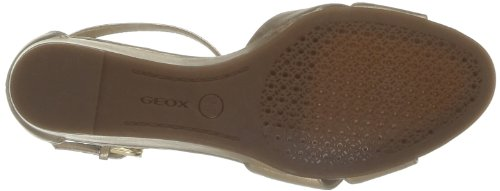 Geox D Lupe C, Sandalias De Marfil Para Mujer (piel)