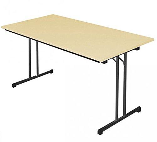 KLAPPTISCH Besprechungstisch Kantinentisch Verkaufstisch Schreibtisch 120x80 Buche Dekor/Stahl-Gestell 350491