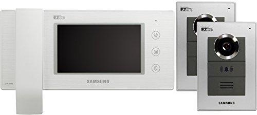 """Preisvergleich Produktbild Samsung Video Türsprechanlage 6"""" LCD Innenstation mit 2x 1-Fam. Außenstation Komplett Set weiß"""