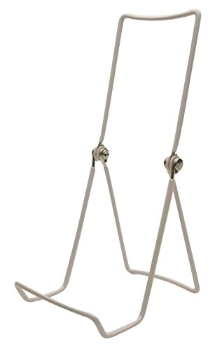 Gibson Holders Three Wire Display Stand for Books, Cookware, China, and More, Set of 2, White (6AC-W)