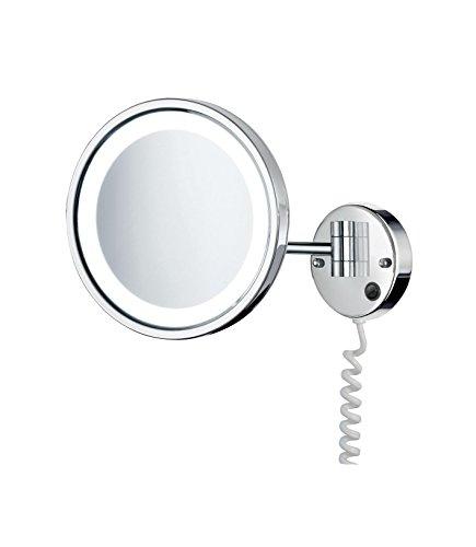 SMEDBO OUTLINE glänzend Kosmetik-Spiegel Gelenkarm beleuchtet 5-fach LED FK470E